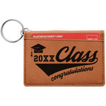 Graduating Students Leatherette Keychain ID Holder (Personalized)