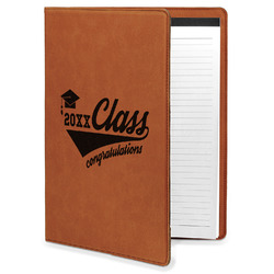 Graduating Students Leatherette Portfolio with Notepad (Personalized)
