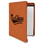 Graduating Students Leatherette Zipper Portfolio with Notepad (Personalized)