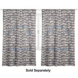 "Graduating Students Curtains - 56""x80"" Panels - Lined (2 Panels Per Set) (Personalized)"