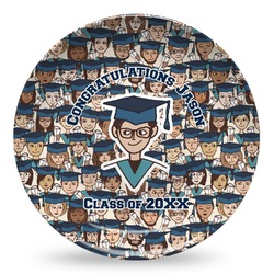 Graduating Students Microwave Safe Plastic Plate - Composite Polymer (Personalized)