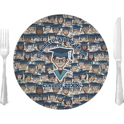 """Graduating Students Glass Lunch / Dinner Plates 10"""" - Single or Set (Personalized)"""