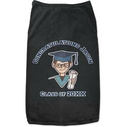 Graduating Students Black Pet Shirt (Personalized)