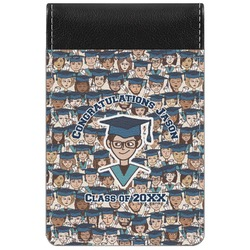 Graduating Students Genuine Leather Small Memo Pad (Personalized)