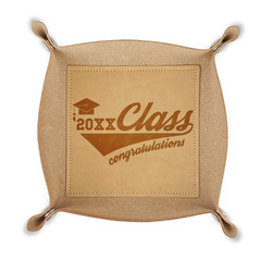 Graduating Students Genuine Leather Valet Tray (Personalized)