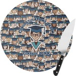 Graduating Students Round Glass Cutting Board (Personalized)
