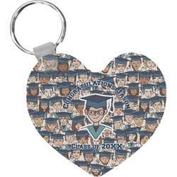 Graduating Students Heart Keychain (Personalized)
