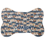 Graduating Students Bone Shaped Dog Food Mat (Personalized)
