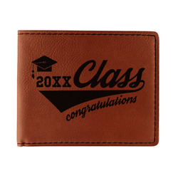 Graduating Students Leatherette Bifold Wallet (Personalized)