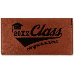 Graduating Students Leatherette Checkbook Holder (Personalized)