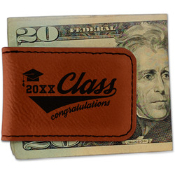 Graduating Students Leatherette Magnetic Money Clip (Personalized)