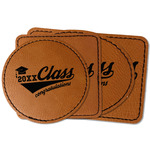 Graduating Students Faux Leather Iron On Patch (Personalized)