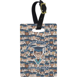 Graduating Students Plastic Luggage Tag - Rectangular w/ Name or Text
