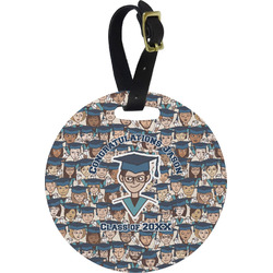 Graduating Students Round Luggage Tag (Personalized)