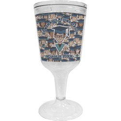 Graduating Students Wine Tumbler - 11 oz Plastic (Personalized)