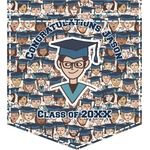 Graduating Students Iron On Faux Pocket (Personalized)