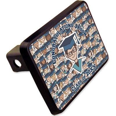 """Graduating Students Rectangular Trailer Hitch Cover - 2"""" (Personalized)"""