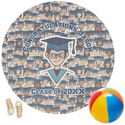 Graduating Students Round Beach Towel (Personalized)