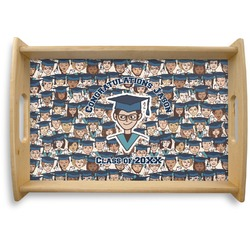 Graduating Students Natural Wooden Tray (Personalized)