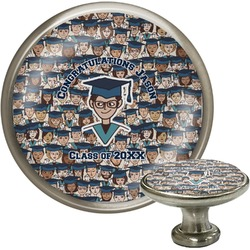 Graduating Students Cabinet Knob (Silver) (Personalized)