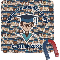 Graduating Students Square Fridge Magnet (Personalized)
