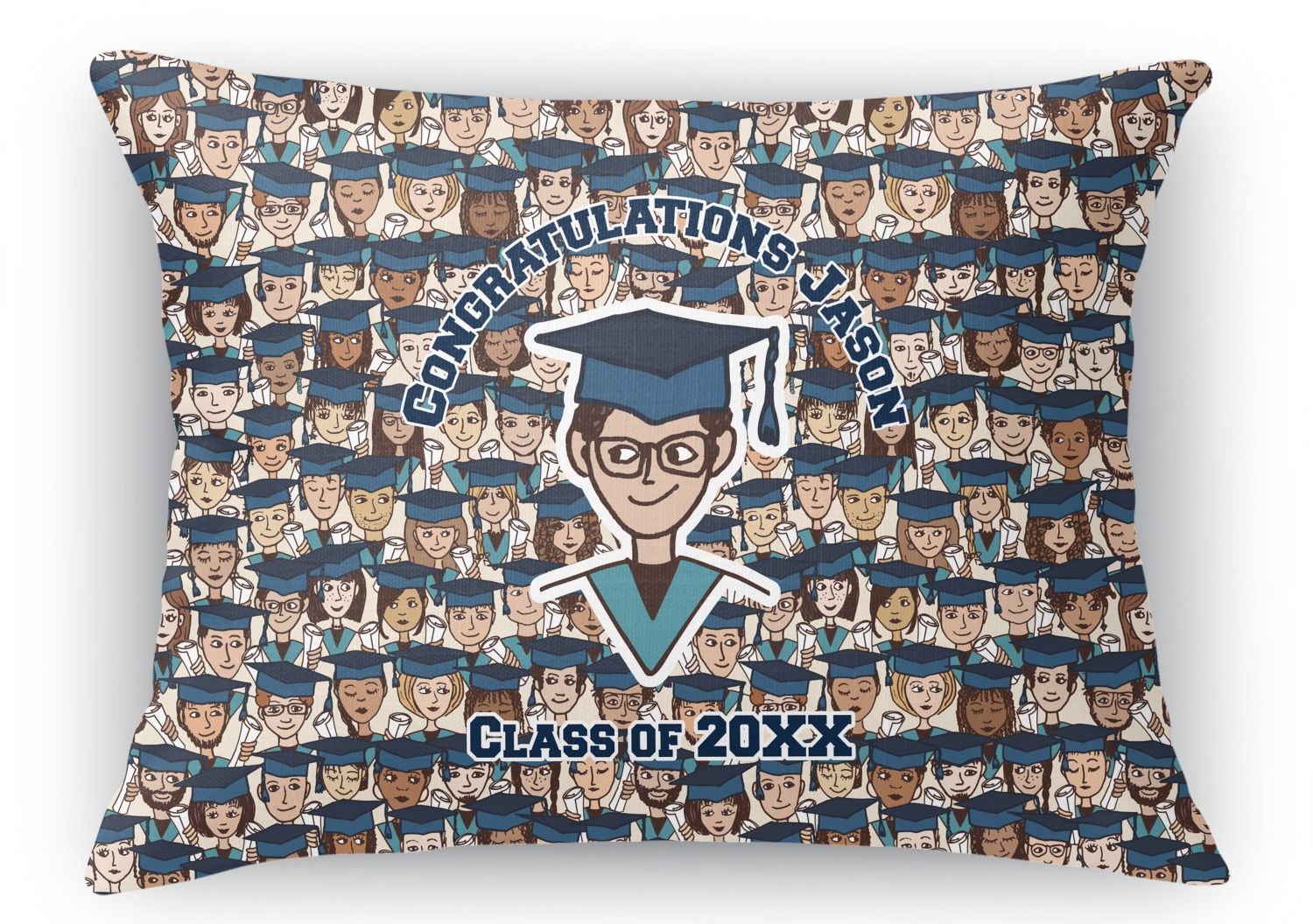 Rectangular Throw Pillow Dimensions : Graduating Students Rectangular Throw Pillow - 18