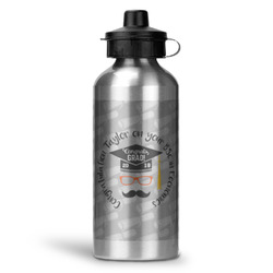 Hipster Graduate Water Bottle - Aluminum - 20 oz (Personalized)