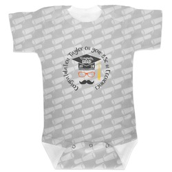 Hipster Graduate Baby Bodysuit (Personalized)