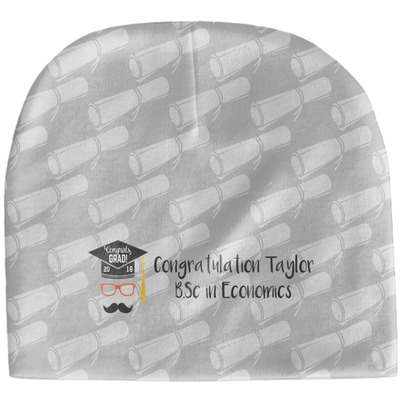 Hipster Graduate Baby Hat (Beanie) (Personalized)