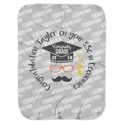 Hipster Graduate Baby Swaddling Blanket (Personalized)