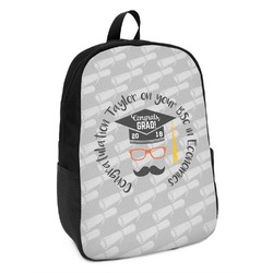 Hipster Graduate Kids Backpack (Personalized)