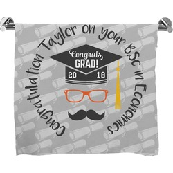 Hipster Graduate Full Print Bath Towel (Personalized)