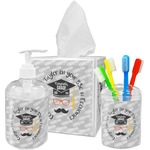 Hipster Graduate Acrylic Bathroom Accessories Set w/ Name or Text