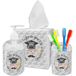 Hipster Graduate Bathroom Accessories Set (Personalized)