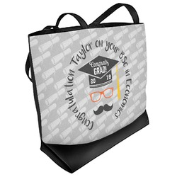 Hipster Graduate Beach Tote Bag (Personalized)