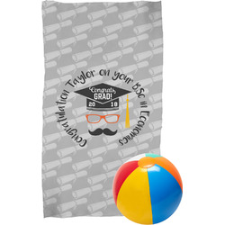 Hipster Graduate Beach Towel (Personalized)