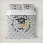 Hipster Graduate Duvet Cover (Personalized)