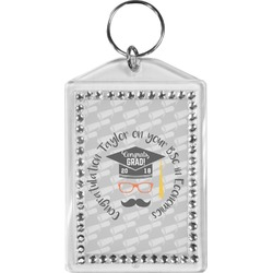 Hipster Graduate Bling Keychain (Personalized)