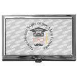 Hipster Graduate Business Card Case