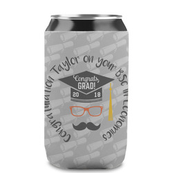 Hipster Graduate Can Sleeve (12 oz) (Personalized)