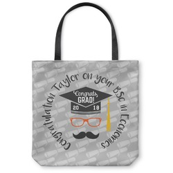 Hipster Graduate Canvas Tote Bag (Personalized)