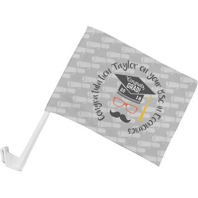 Hipster Graduate Car Flag (Personalized)
