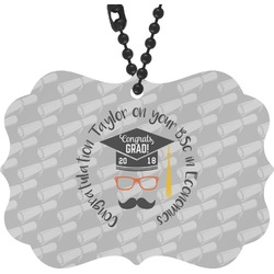 Hipster Graduate Rear View Mirror Decor (Personalized)