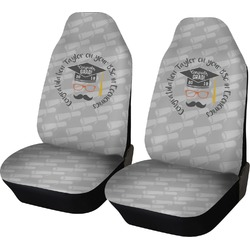 Hipster Graduate Car Seat Covers (Set of Two) (Personalized)
