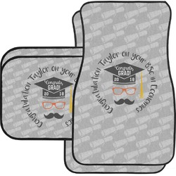 Hipster Graduate Car Floor Mats (Personalized)