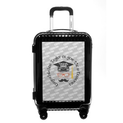 Hipster Graduate Carry On Hard Shell Suitcase (Personalized)