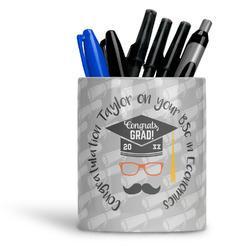 Hipster Graduate Ceramic Pen Holder