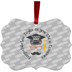 Hipster Graduate Ornament (Personalized)