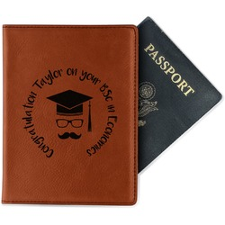 Hipster Graduate Leatherette Passport Holder (Personalized)