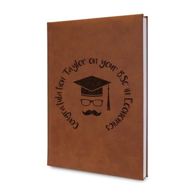 Hipster Graduate Leatherette Journal (Personalized)